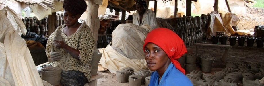 Widow making clean cookstoves