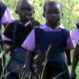 Children walking 70 kilometers to school